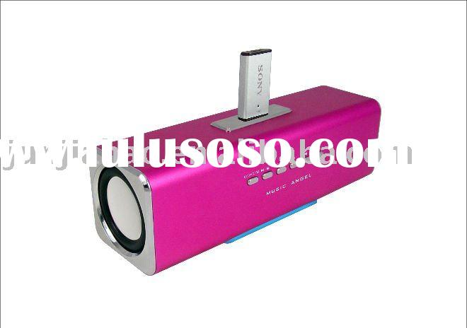 2012 New MUSIC ANGEL speaker USB speaker with rechargable battery/stereo speaker