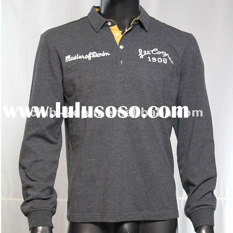 2012 fashion men long sleeve POLO T-shirt
