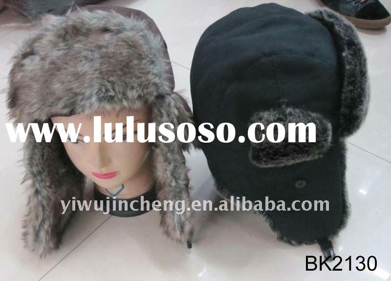 2012 hotest popular ladies fashion New lint winter hat with admirals style