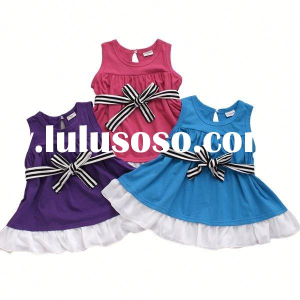 2012 new design lovely girls' dresses&T-shirts for summer kids beautiful model dresses
