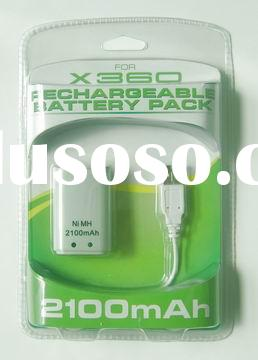 2100mAh Rechargeable battery pack for xbox360