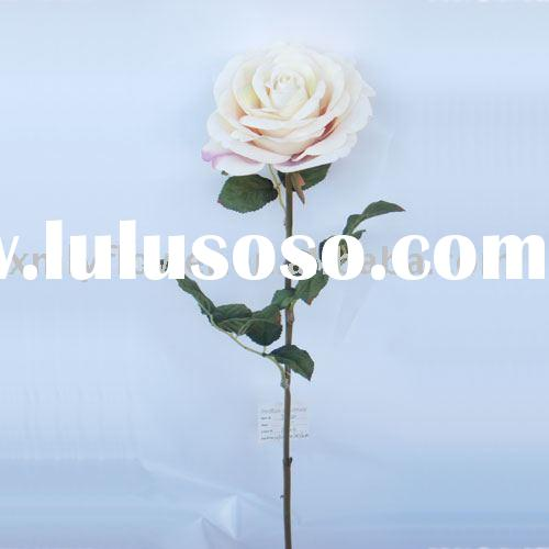 "26"" Artificial Velvet Rose white for wedding, home decor"