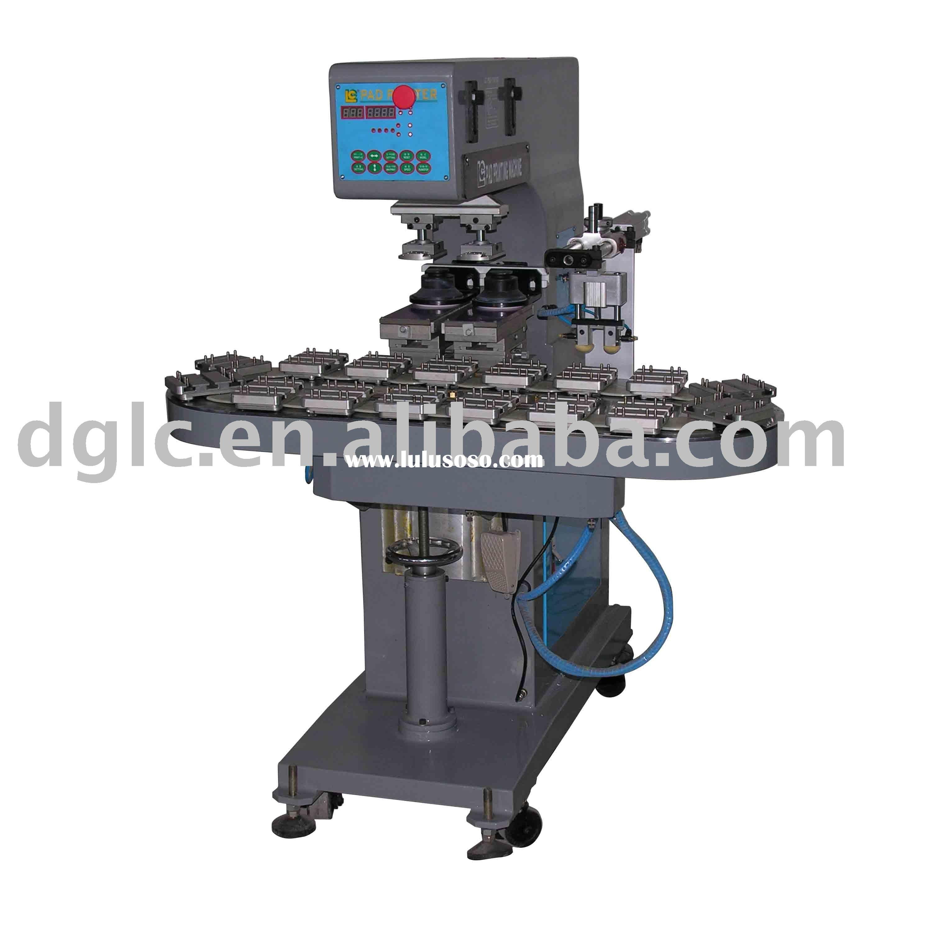 2 Color Ink Cup Pad Printing Machine with Conveyer & Auto Water Process System
