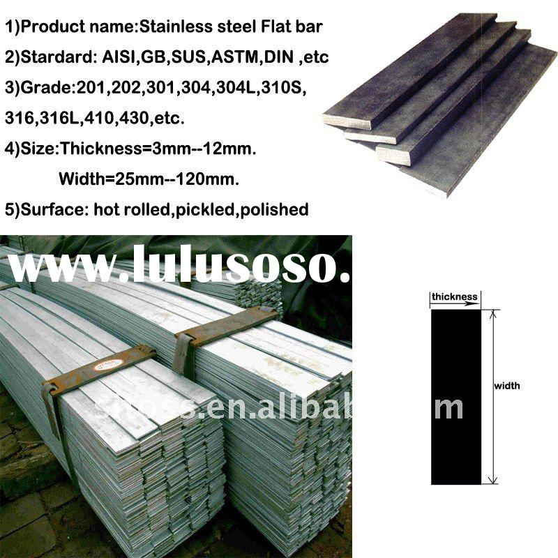 304 25x8mm stainless steel flat bar
