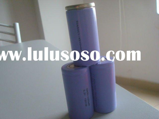 32650 5500mAh lithium polymer cylindrical battery used for electric vehicle/UPS/solar system