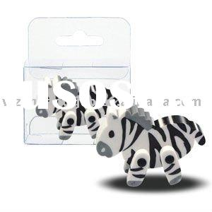3D animal erasers of Zebra CG-3D01