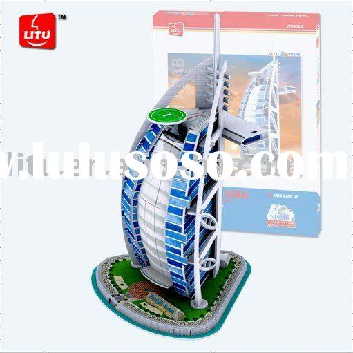 3D puzzle/foam puzzle/educational toy/Burj Al Arab Hotel