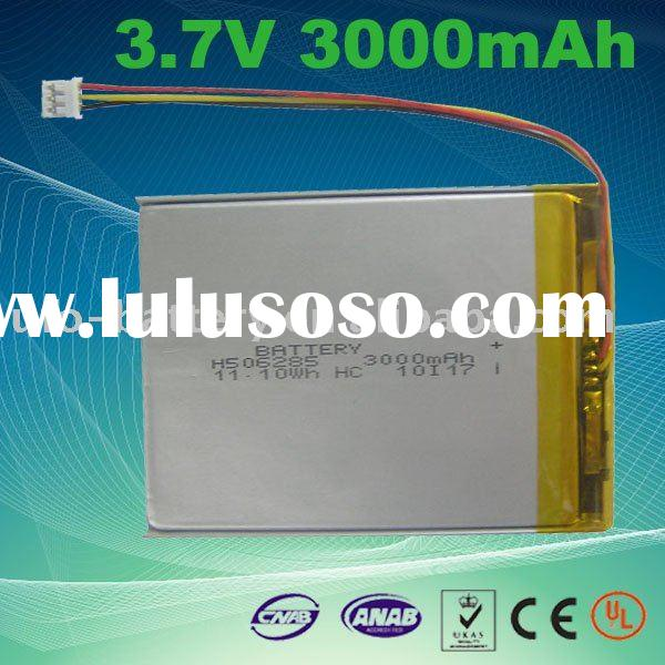 3.7V 3000mAh Rechargeable lithium polymer battery for touch tablet