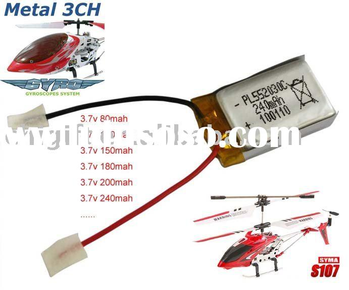 3.7v LiPo Battery for 3ch RC Helicopter