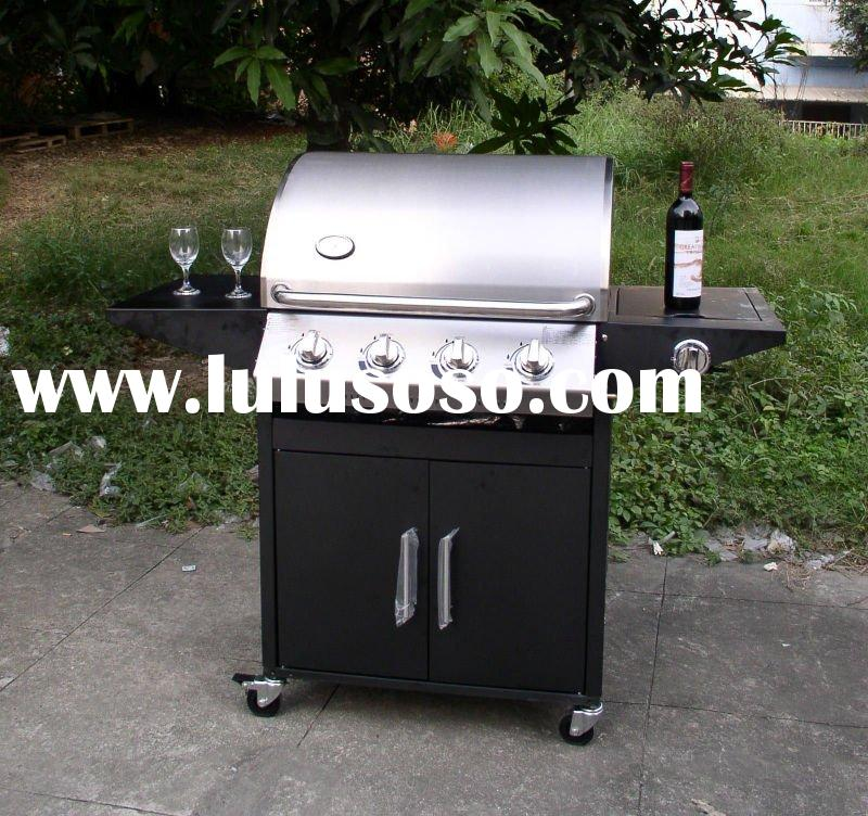 3 burner CE Approved Outdoor Stainless Steel gas bbq grill