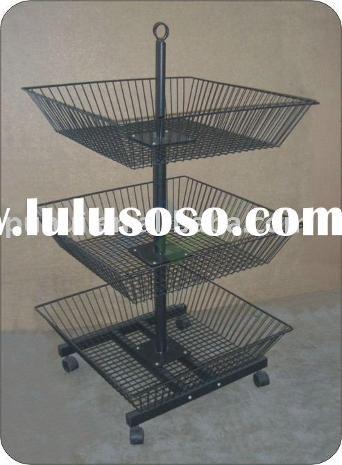 3 tier mobile merchandising fixture