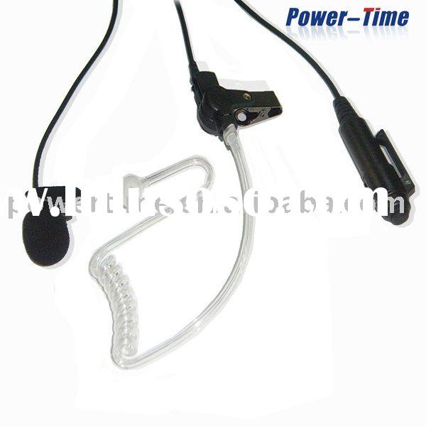 3 wire clear acoustic tube earpiece with microphone and PTT separated