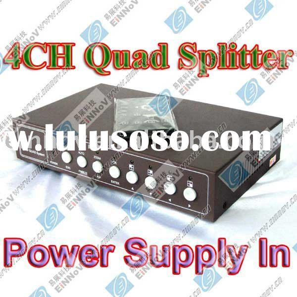 4 CH Color Quad Processor Splitter Video Audio Camera Processor Free Power Supply F69