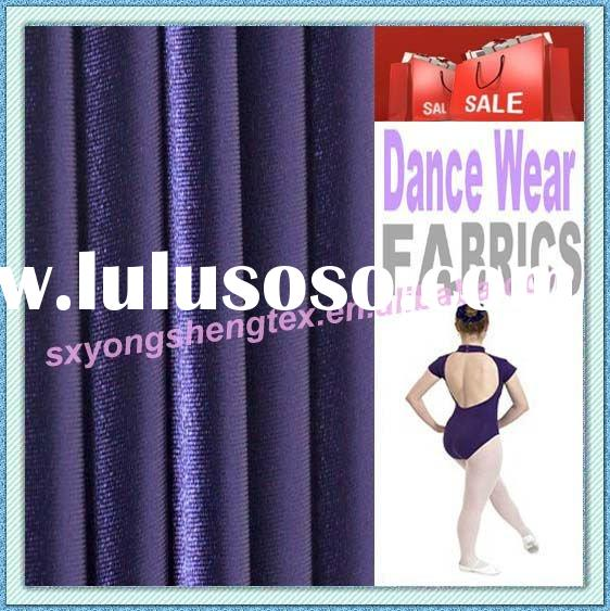 4 Way Stretch Shiny Polyester Spandex Nylon Spandex Gymnastics Leotard Fabric
