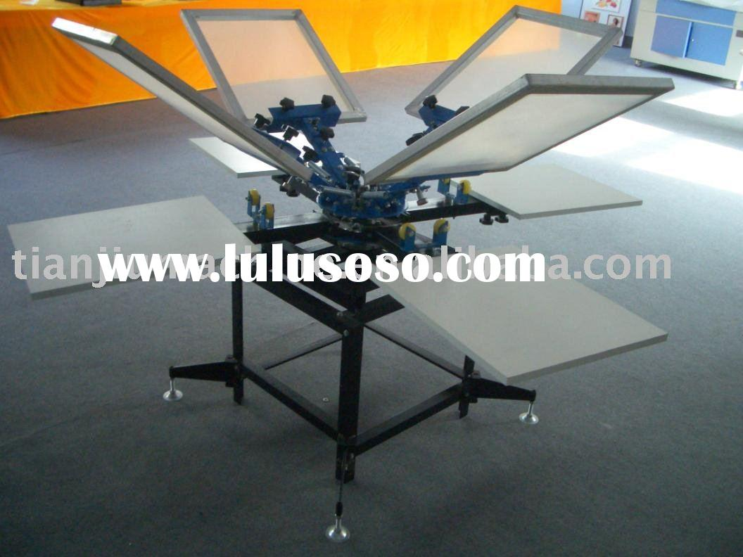4 color 4 station screen screen printing machine for t shirts
