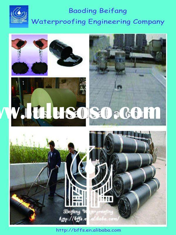 4mm SBS/APP flat modified bitumen waterproof roofing PE membrane