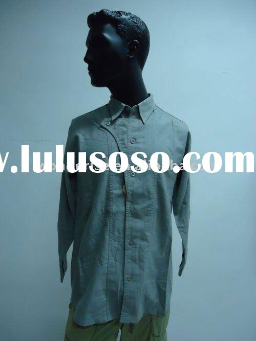 55%linen.45%cotton,men's long sleeve shirt