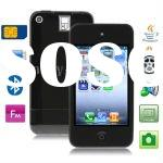 5S Black, JAVA Bluetooth FM Function 3.5 inch Touch Screen Ultra-thin Mobile Phone with 4GB Memory,