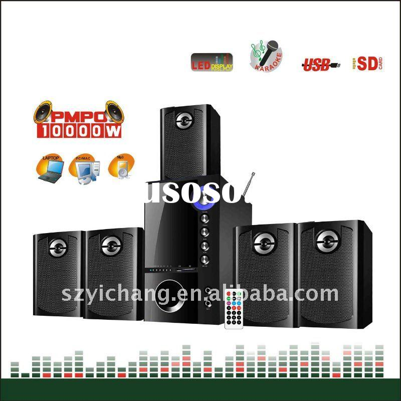 5.1 CH Multimedia Home Theater System with USB SD FM and Remote Control