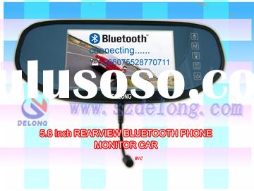 5.8 inch car rearview mirror Bluetooth Handsfree TFT-LCD monitor