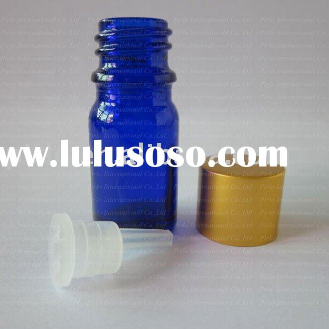 5ml Cobalt Blue Oil Essential Bottle With Metal cap and Orifice Reducer