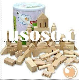 65pcs wooden building blocks for children toys