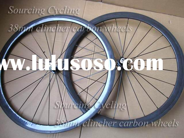 700C carbon road bicycle wheel, 38mm clincher bike rims,full carbon bike wheelset