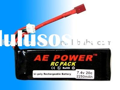 7.4V RC Helicopter Lipo Battery Pack