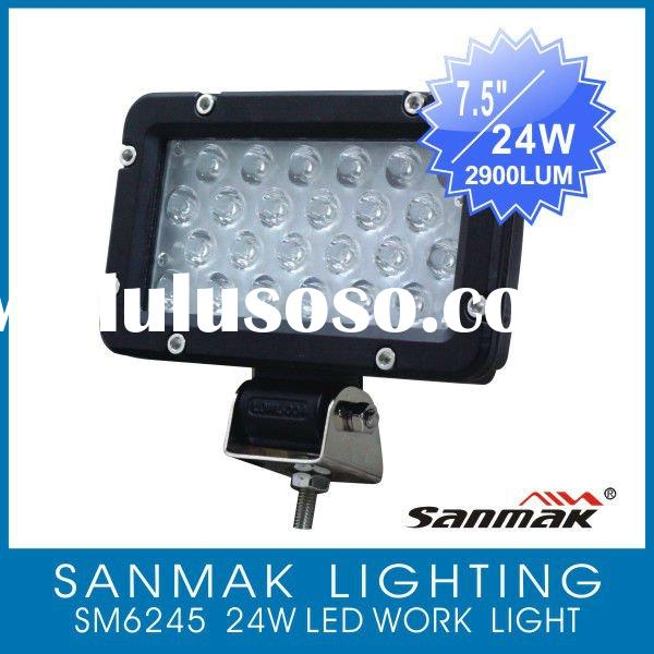 "7.5"" 24W Bright Auto LED Tractor Work Lights Spot light for truck crane 6245"
