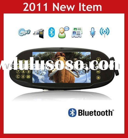 7'' Bluetooth Car Kit Rearview Mirror with backup Camera
