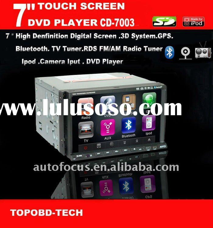"7"" Double Two Din Car DVD Player With GPS/Bluetooth/TV/IPod/AM/FM"