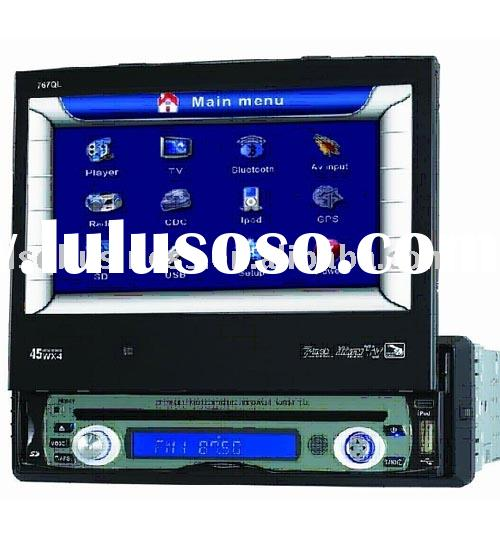 "7"" In dash DVD player with touchscreen (DIVX/DVD/VCD/CD/MP3/MPEG-4/RW/FM Discs)"
