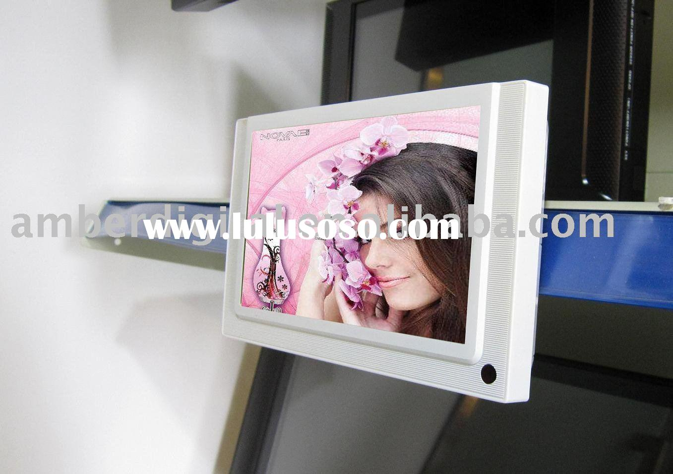 "7"" Supermarket LCD Ad Screen with IR motion sensor, timer function."