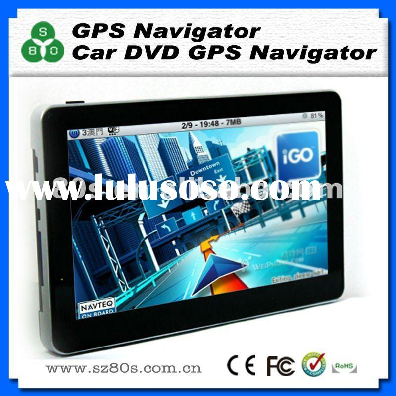 7 inch HD touch screen car gps with optional Bluetooth AV-IN and TV function