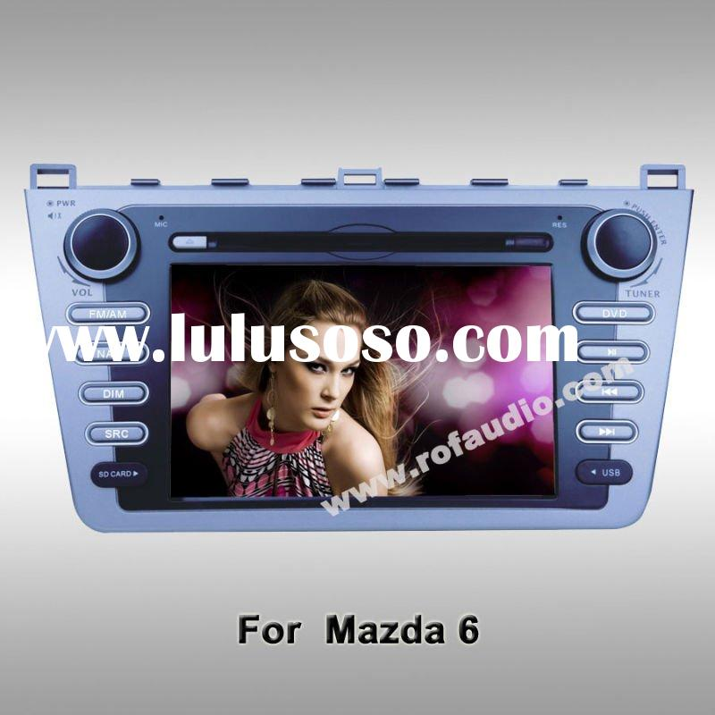 7 inch tft lcd touch screen car dvd player with gps ipod rds bluetooth radio swc for MAZDA 6