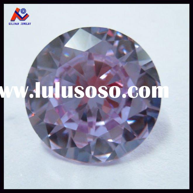 8mm Amethyst Brilliant Cut Round Cubic Zirconia Gemstone