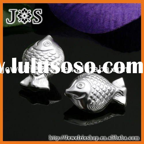 925 Sterling Silver Jewelry Fish Bead Connector Pendant Finding