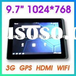 "9.7"" Android tablet pc,tablet pc 10 inch,Google android 2.3, 1.2GHz, GPS, internal 3G"