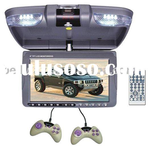 "9""Flip down car DVD player with USB/SD"