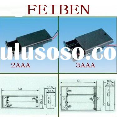 AAA battery holder with cover and ON/OFF switch