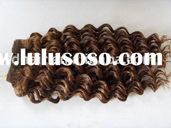 AAA quality hair extensions/remy human hair extensions/french wave hair extension