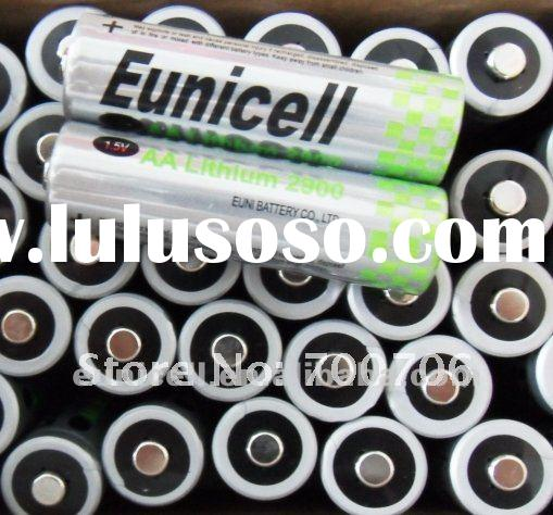 AA lithium battery, AA Li-Fe 1.5V lithium battery, 2900mAh, 10years shelf life