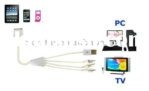 AV TV RCA USB Video Cable for iPod & iPhone & iPad