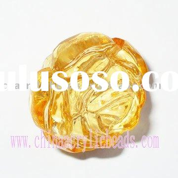 Acrylic crystal rose pendant, clear crystal pentant, clear acrylic beads