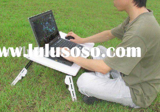 Adjustable Folding Laptop Table with USB Fans