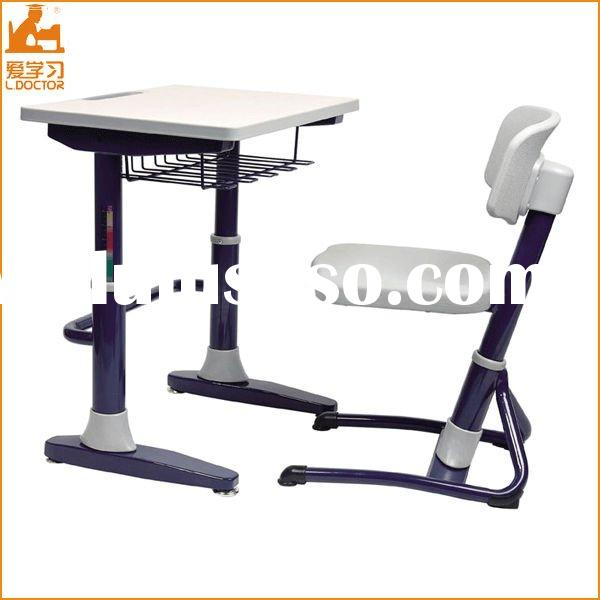 Adjustable Furniture Educational Desk and Chair in School Furniture