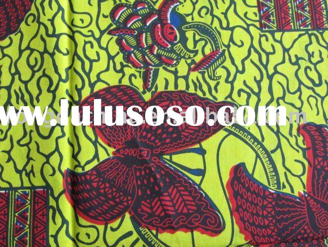 African Cotton Real Wax Printed Textile Fabric