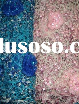 African garment of french sequins lace