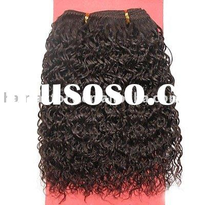 Afro Curl Hair Weft/100% Human Hair Extension