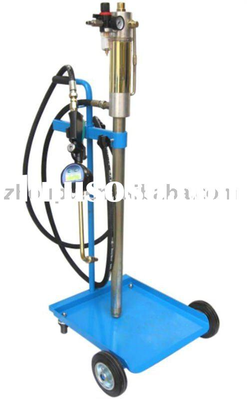 Air-operated oil pump for distribution with digital meter gun